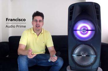 CAIXA DE SOM AMPLIFICADA MULTIUSO BLUETOOTH COM USB E MICROFONE CM 1800 Frahm