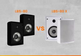 Diferença entre a caixa acústica LB5 80 e a LB5 80 LX da Loud