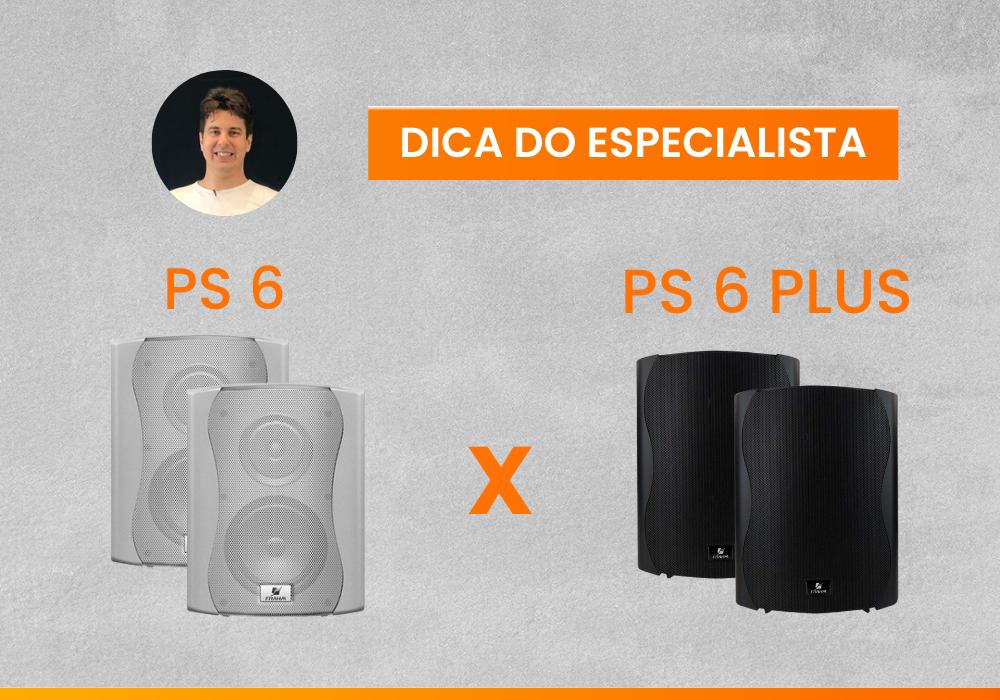 Qual é a diferença entre a caixa de som acústica PS PLUS e a PS S