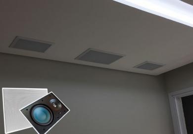 Caixa de Som de Embutir AAT LR-E100 Instalação Surround Home Theater e Som Ambiente