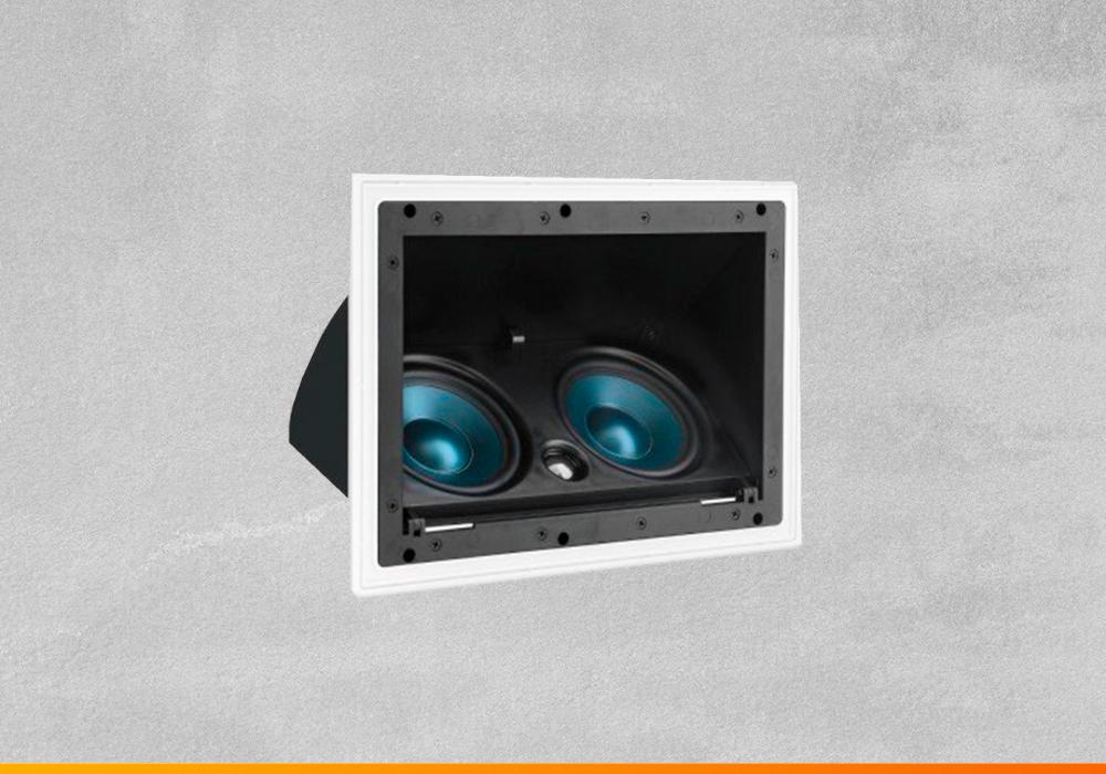 Caixa de som de embutir AAT LCR-A100 frontal 2 alto-falantes para home theater