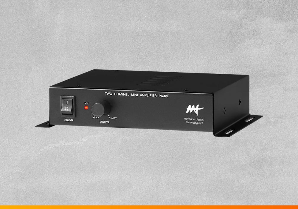 Amplificador de baixo custo e qualidade PA-60 AAT para pequenos ambientes